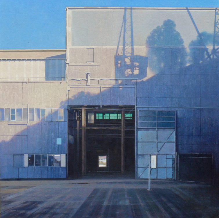 Shadows,Cockatoo Island 70 x 70 cm acrylic on canvas